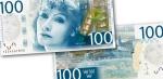 บุคคลในภาพบนธนบัตร Greta Garbo เป็นนักแสดงชาวสวีเดนในช่วงภาพยนตร์เงียบของฮอลลีวูดและเป็นส่วนหนึ่งในยุคทองของฮอลลีวูด การ์โบเคยได้รับรางวัลออสการ์ รางวัลเกียรติยศในปี 1954 และในปี 1999 ติดอยู่อันดับ 5 ในการจัดอันดับของสถาบันภาพยนตร์อเมริกันในหัวข้อนักแสดงหญิงยอดเยี่ยมที่สุดตลอดกาล (ข้อมูลจาก wikipedia)